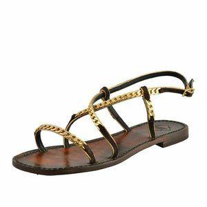 "Emanuela Caruso ""Capri"" Women's Chain Flat Sandals"